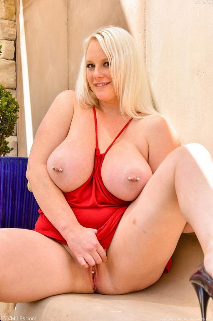 Chubby Blonde Mature Big Tits